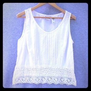 Emma James lace linen blouse